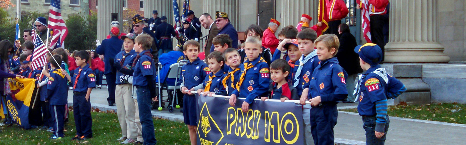 Cub Scouts West Chester Veterans Day Parade