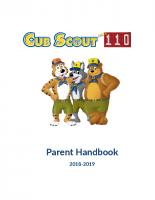 2018-19 Pack 110 Parent Handbook